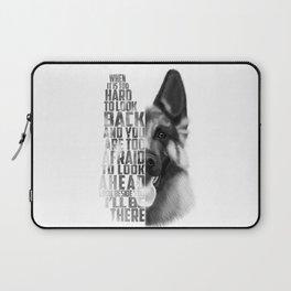 German Shepherd Quote Text Laptop Sleeve