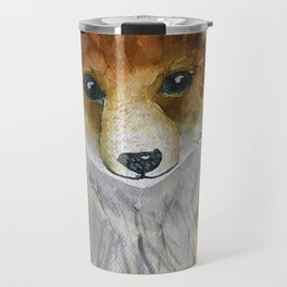 Woodland Creatures Nursery Wall Art - Baby Fox Nursery Wall Art Travel Mug