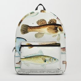 Illustrated Colorful Southern Pacific Ocean Exotic Game Fish Identification Chart No. 4 Backpack