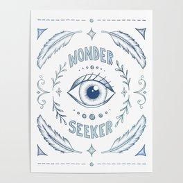 Wonder Seeker - Blue Poster