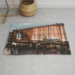 Germany Photography - Cologne Central Station Rug