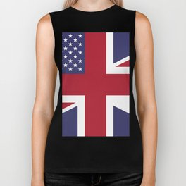 United States and The United Kingdom Flags United Forever Biker Tank