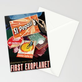 51 PEGASI b Greetings From Your First Exoplanet NASA Visions of the Future Poster Stationery Cards