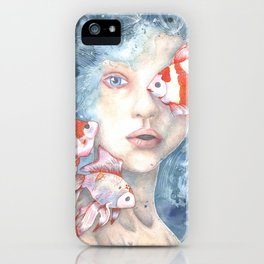 Under the Water and Dreaming iPhone Case