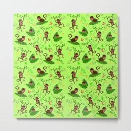 Jumping cheeky monkeys 01 Metal Print