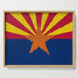 Extruded flag of Arizona Serving Tray
