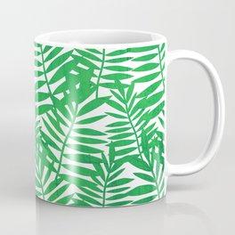 Tropical Leaf Print Coffee Mug