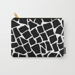 Mosaic Zoom Black and White Carry-All Pouch