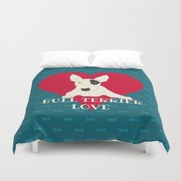Bull Terrier Love Duvet Cover