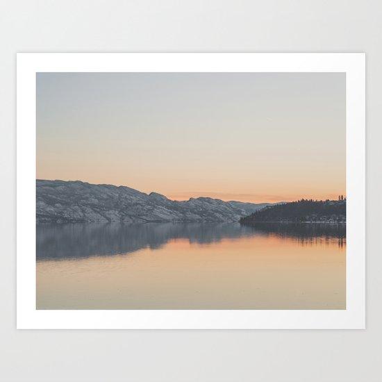 Okanagan Lake II Art Print