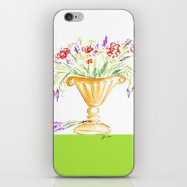 Whimsical flowers in an urn iPhone Skin
