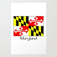 maryland Art Prints featuring Maryland by rita rose