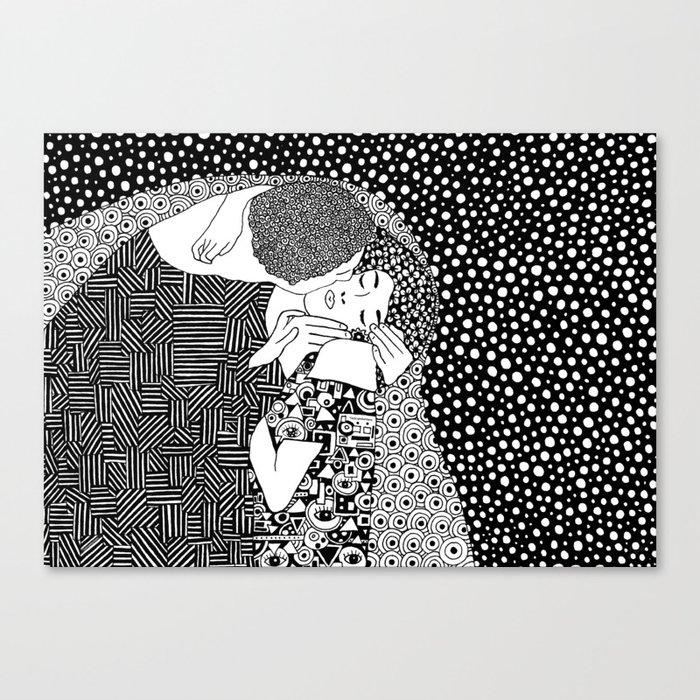 Gustav Klimt - The kiss Leinwanddruck