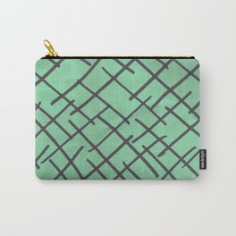 Crossed lines Carry-All Pouch