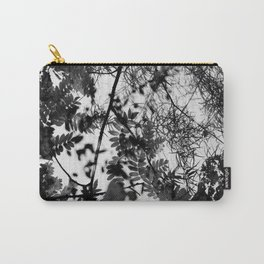 Black and white leaves and branches Carry-All Pouch