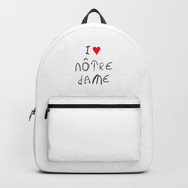 I love notre dame de Paris. Backpack