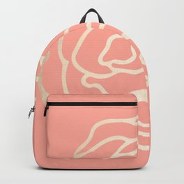 Flower in White Gold Sands on Salmon Pink Backpack