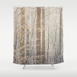 after the snow ...  Shower Curtain