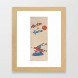 Rocket to Space No. 2 Framed Art Print