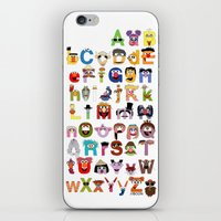 sesame street iPhone & iPod Skins featuring Sesame Street Alphabet by Mike Boon