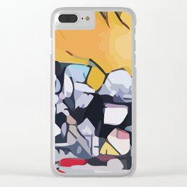 Abstract 100 #1 Clear iPhone Case