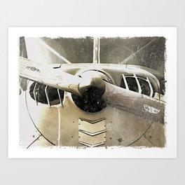 Antique Airplane Nose Art Print