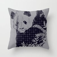 brand new Throw Pillows featuring New Brand Panda by Tobe Fonseca