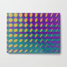 elipse grid pattern_purple,mustard Metal Print