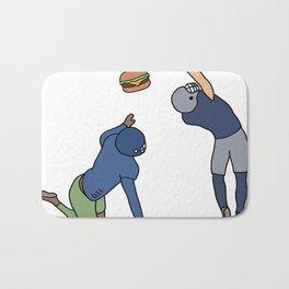 Hamburger Football Touchdown Bath Mat