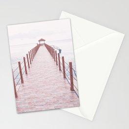 Pier Coastal View Stationery Cards