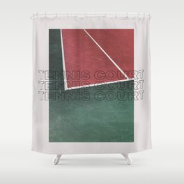 Tennis Court Shower Curtain