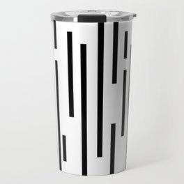 Minimal Lines - Black Travel Mug
