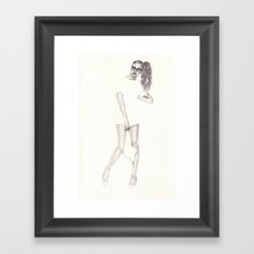No.2 Fashion Illustration Series Framed Art Print