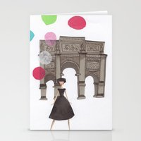 balloons Stationery Cards featuring Balloons by Emma Block