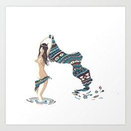 Emerging Dakini Screenprint of Native American Goddess Art Print