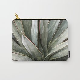 Succulents // Light Green Blue Cactus Plant Leaves Close Up Horizontal Carry-All Pouch