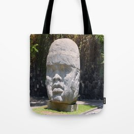 Olmeca head from Veracruz, Mexico Tote Bag