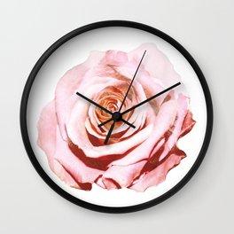 Photomanipulation | Pink Rose Wall Clock