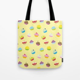 Cupcakes - yellow Tote Bag