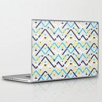 navy Laptop & iPad Skins featuring Navy by La Señora