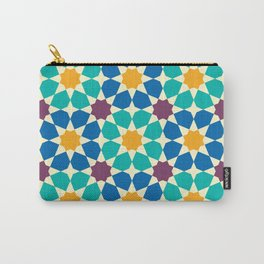 Moroccan pattern, Morocco. Patchwork mosaic with traditional folk geometric ornament Carry-All Pouch