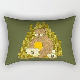 Bitcoin Miner T-shirt Bear Rectangular Pillow