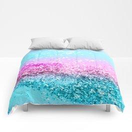 Unicorn Girls Glitter #16 #shiny #decor #art #society6 Comforters