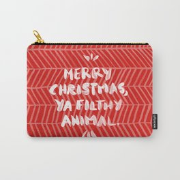 Merry Christmas, Ya Filthy Animal – Red Carry-All Pouch