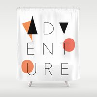 adventure Shower Curtains featuring ADVENTURE by Sahar