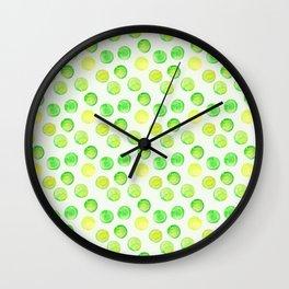 Tennis Balls / Watercolor Pattern / Ace / Serve Wall Clock