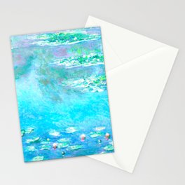 Monet Water Lillies Remix Stationery Cards