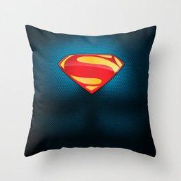 Man of Steel Suit Throw Pillow