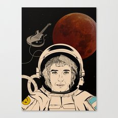 Astronaut Guitar Canvas Print