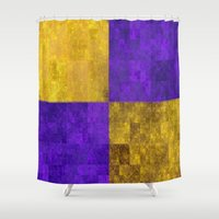 lakers Shower Curtains featuring LA-kers by Ramo